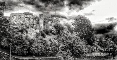 Photograph - Inverness Castle In Greyscale  by Joan-Violet Stretch