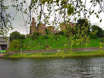 Photograph - Inverness Castle Through The Willow Trees by Joan-Violet Stretch