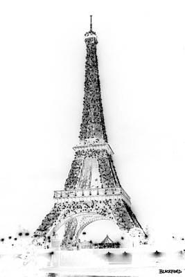 Inverted Eiffel Tower Art Print by Al Blackford