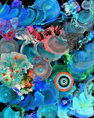 Inverted Painting Pop Fluid 6 Art Print