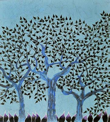 Inverted Painting Tribhovan Art Print by Sumit Mehndiratta