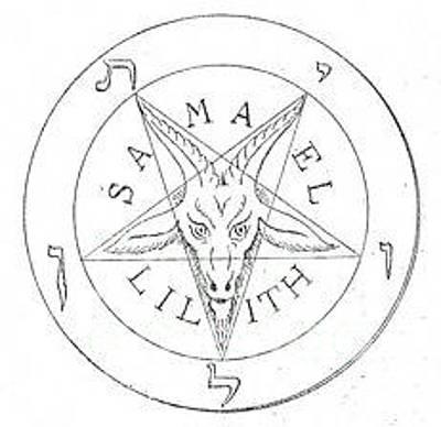Cult Digital Art - Inverted Pentagram by Frederick Holiday