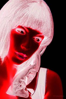 Digital Art - Inverted Realities - Red  by Serge Averbukh