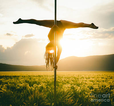 Photograph - Inverted Splits At Sunset Pole Dance by Scott Sawyer