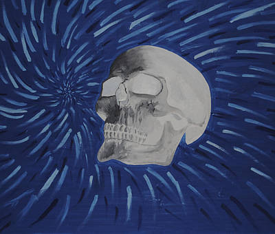 Inverted Painting - Inverted Trippy Skull by Pedro Lozano