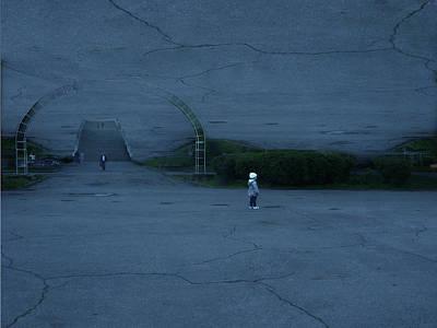 Asphalt Digital Art - Inverted Universe by Irina Prudnikova