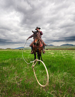 Working Cowboy Photograph - Invisible Calf by Todd Klassy