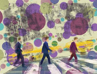 Invisible Men With Balloons Art Print
