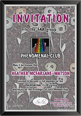 Invitations Mixed Media - Invitation by Heather McFarlane-Watson