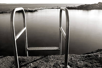 Swim Ladder Photograph - Invitation by Nicholas Blackwell