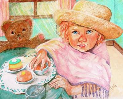 Invitation Only Tea Party Art Print by Sandra Valentini