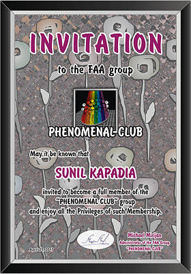 Photograph - Invitation by Sunil Kapadia