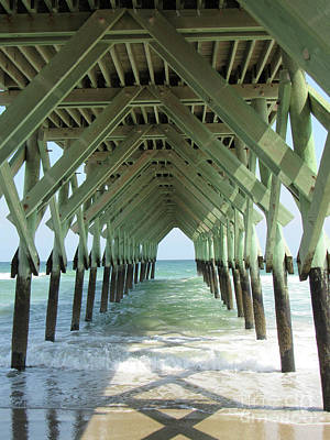 Photograph - Invitation To The Unknown Under The Pier by Roberta Byram