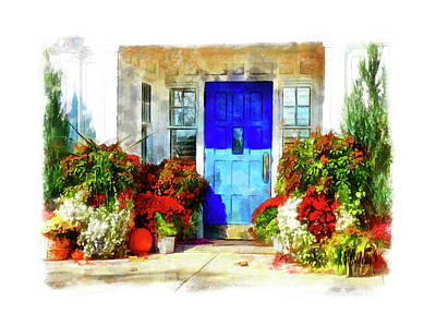 Photograph - Inviting Autumn Door by Leslie Montgomery