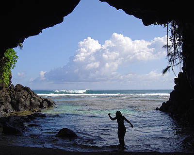 Kauai Girl Photograph - Inviting Shadows by Allen Lefever