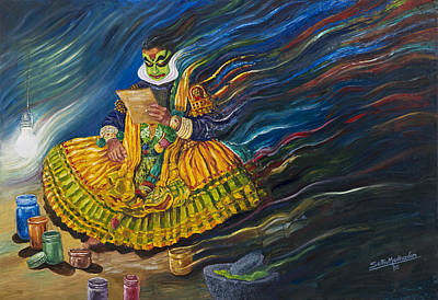 Painting - Invocation by Sethu Madhavan