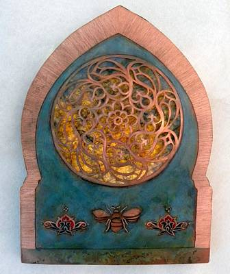 Mixed Media - Nur An - Nahl / Invocation by Shahna Lax