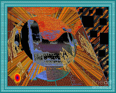 Digital Art - Inw_20a0610a_mortar-black_fxfr-blue by Kateri Starczewski