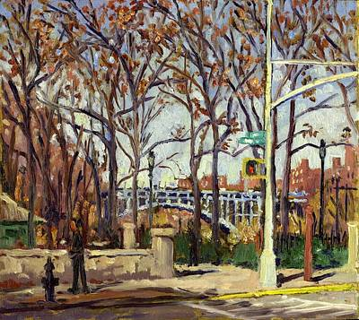 Painting - Inwood Hill Park And The Henry Hudson Bridge by Thor Wickstrom