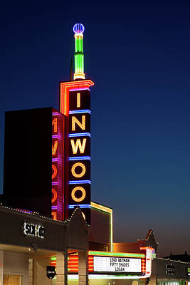 Dallas Photograph - Inwood Theater Dallas Red 31517s by Rospotte Photography