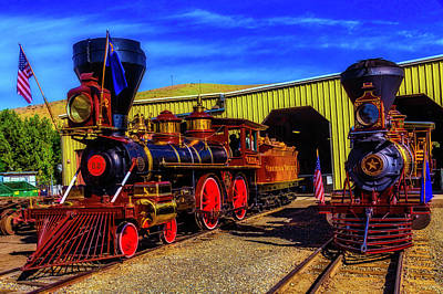 Photograph - Inyo And Glenbrook Gingerbread Trains by Garry Gay