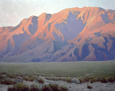 Painting - Inyo Mountains At Sunset by Armand Cabrera