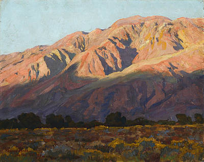 Inyo Range At Sunset Art Print by Celestial Images
