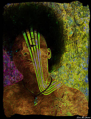 Digital Art - Io Punk - Self Portrait by Iowan Stone-Flowers