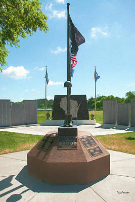Photograph - Iola Veterans Park by Trey Foerster