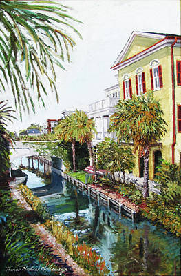 Painting - I'on Canal by Thomas Michael Meddaugh