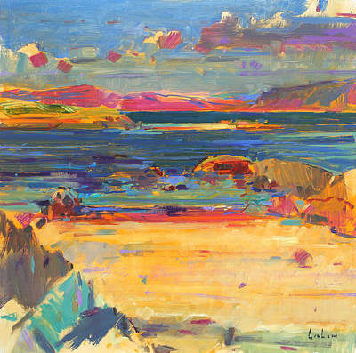 Sandy Cove Painting - Iona To Mull by Peter Graham