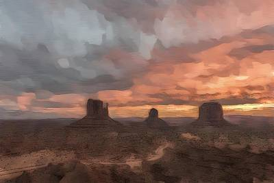 Digital Art - Monumental Dusk by Jon Glaser