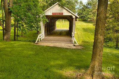 Photograph - Iowa Bridge In The Grass by Adam Jewell