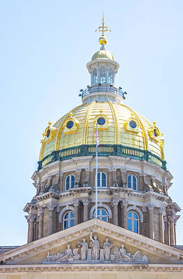 Photograph - Iowa Capitol Dome by Pamela Williams