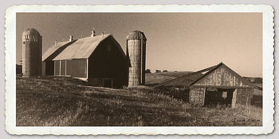 Photograph - Iowa Corn Farm 1981 by Garry McMichael