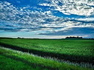 Cornfield Photograph - Iowa Cornfield At Sunset by Mountain Dreams