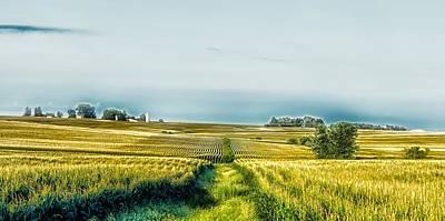 Cornfield Photograph - Iowa Cornfield Panorama by L O C