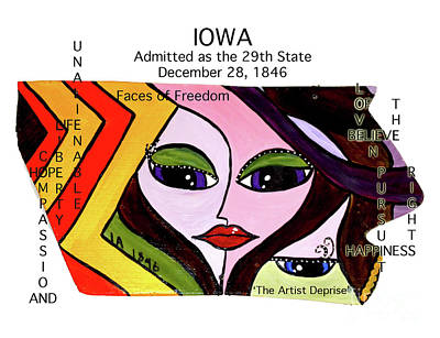 Painting - Iowa by Deprise Brescia