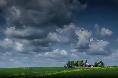 Photograph - Iowa Farm Beneath The Big Sky by Randall Nyhof