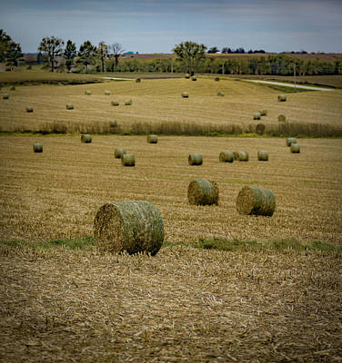 Photograph - Iowa Hayscape by Ray Congrove