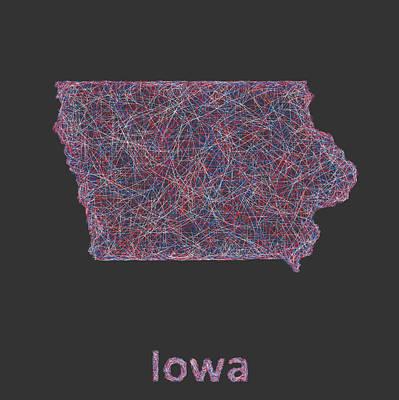 Iowa Map Art Print