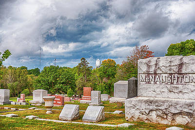 Photograph - Iowa Small Town Cemetery by Edward Peterson