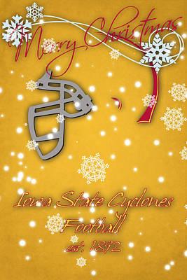 Iowa State Cyclones Christmas Card Art Print by Joe Hamilton