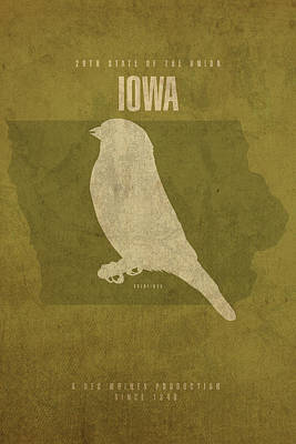 Movie Mixed Media - Iowa State Facts Minimalist Movie Poster Art by Design Turnpike