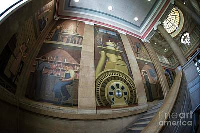 Photograph - Iowa State Library Murals by David Bearden