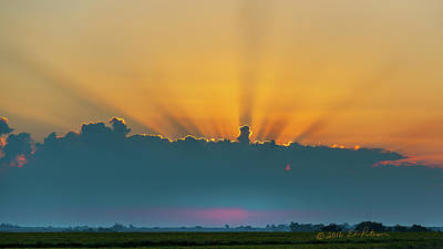 Photograph - Iowa Sun Rays by Edward Peterson