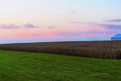 Photograph - Iowa Sunrise by Edward Peterson