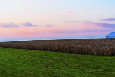Photograph - Iowa Sunrise by Edward Peterson