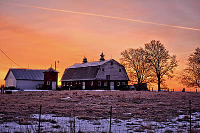 Photograph - Iowa Winter Sunrise 2 by Bonfire Photography