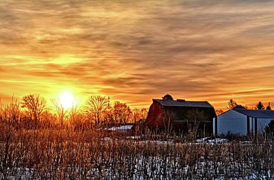 Photograph - Iowa Winter Sunrise by Bonfire Photography